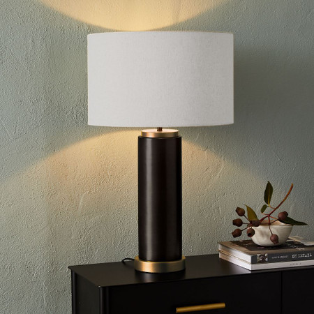 Pillar Table Lamp - Antique Bronze
