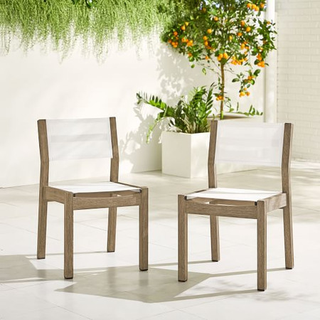 Portside Garden Textilene Dining Chair - Weathered Grey
