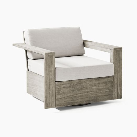Portside Outdoor Swivel Chair - Weathered Grey