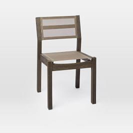 Portside Garden Textilene Dining Chair - Weathered Cafe