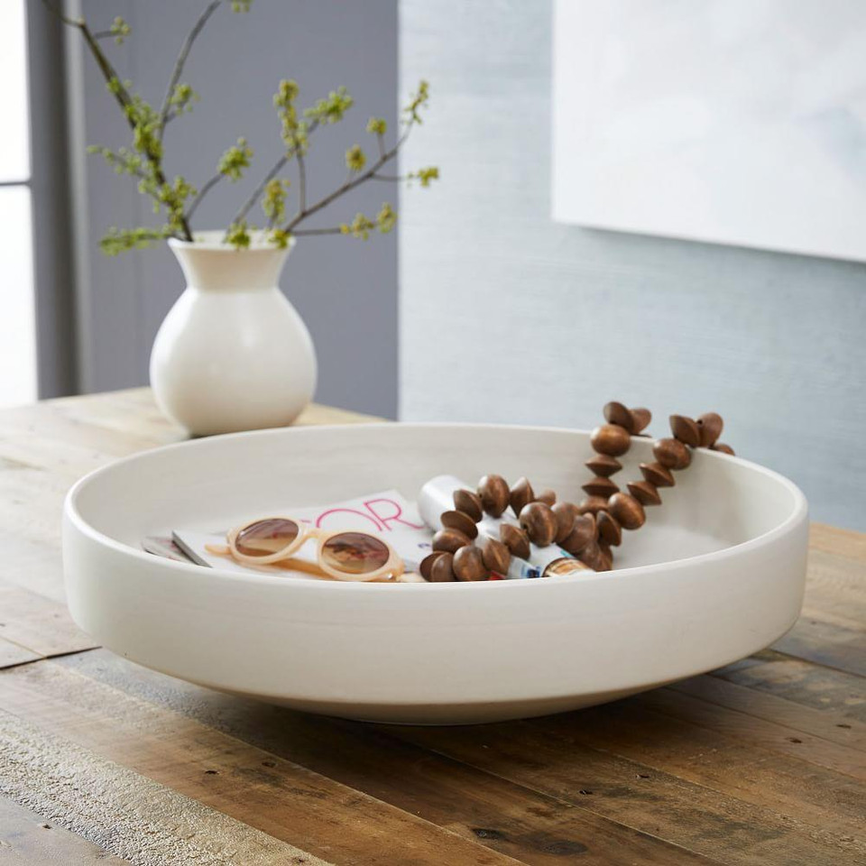 Pure White Ceramic Centrepiece Bowl