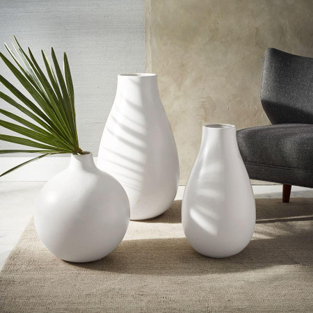 Oversized Pure White Ceramic Vases West Elm United Kingdom
