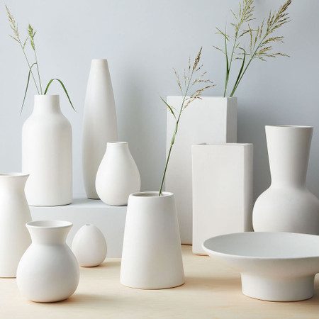 Pure White Ceramic Vases West Elm United Kingdom