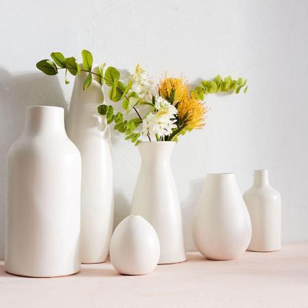 Pure White Ceramic Vases West Elm United Kingdom