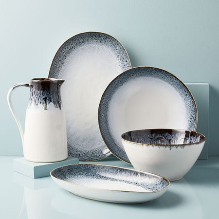 Reactive Glaze Serveware - Black/White