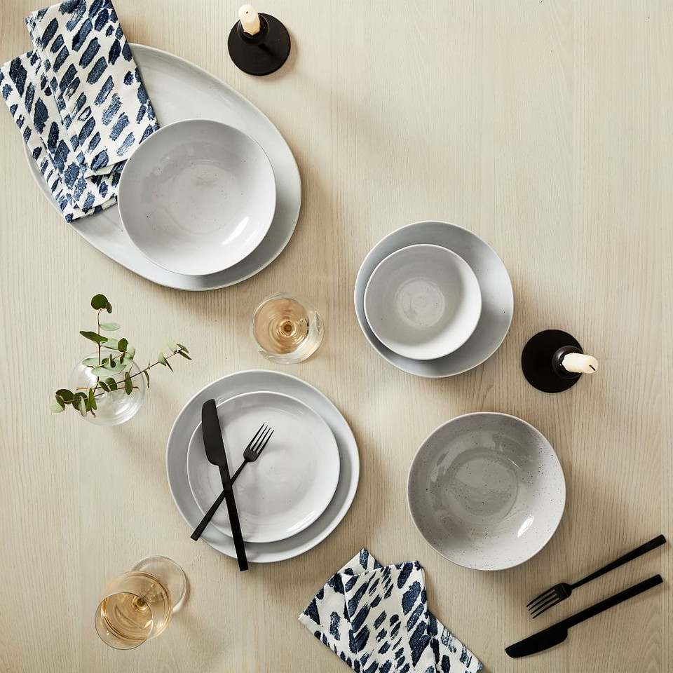 Richmond Speckled Stoneware Dinnerware - Bone