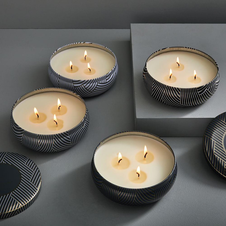 Rove Printed Tin Candles
