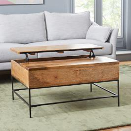 Industrial Storage Pop-Up Coffee Table - Small (91 cm)