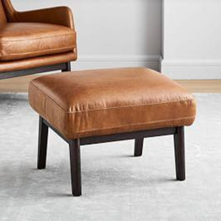 Ryder Leather Ottoman