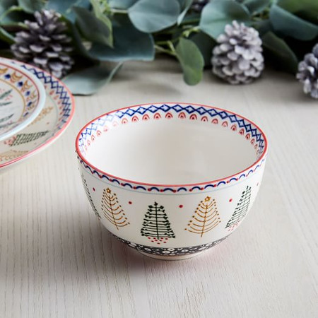 Scandi Forest Bowl - Red
