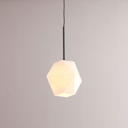 Sculptural Glass Faceted Ceiling Lamp Small Milk West Elm United Kingdom