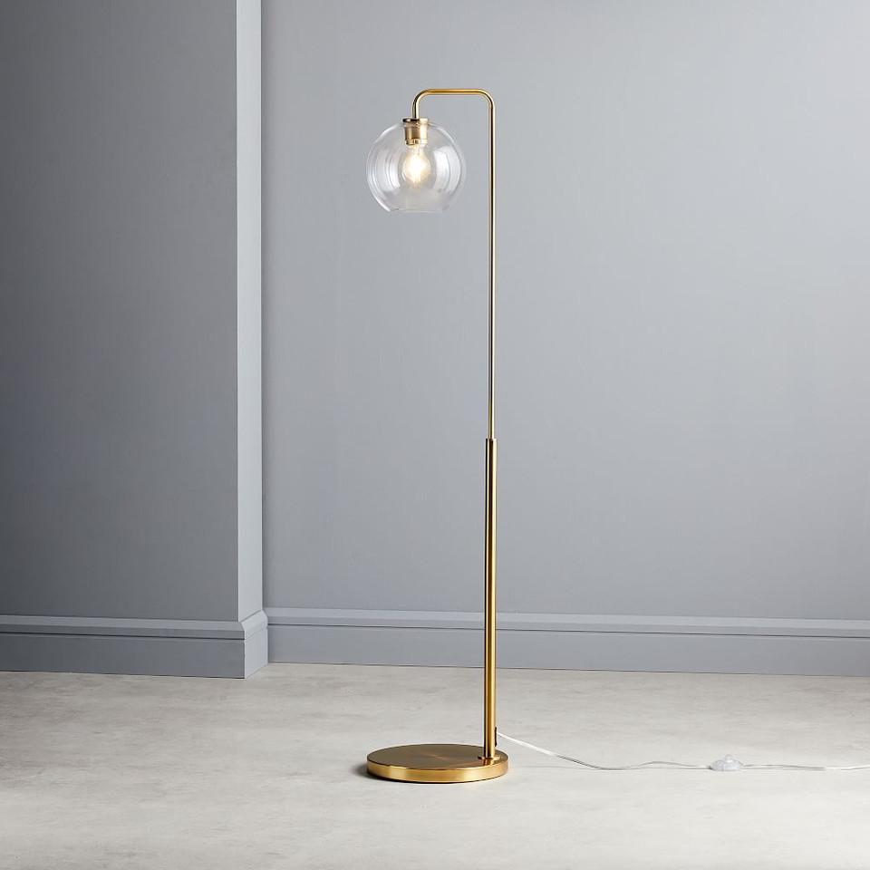 Sculptural Glass Globe Floor Lamp West Elm United Kingdom