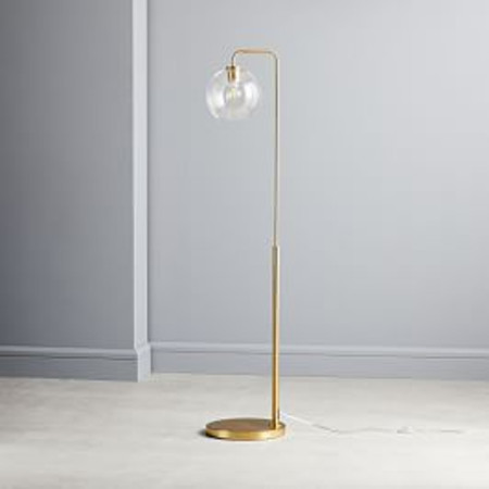 Sculptural Glass Globe Floor Lamp