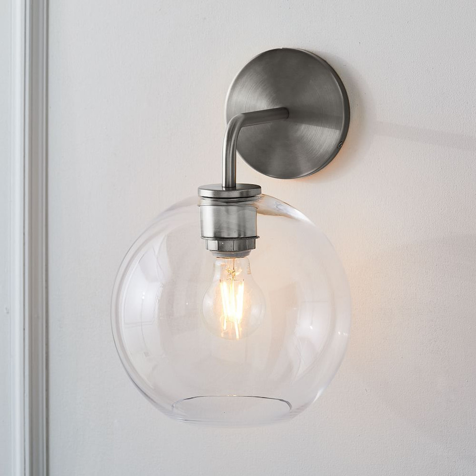 Sculptural Glass Globe Sconce - Small