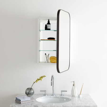 Seamless Bathroom Cabinet West Elm, Long Mirrored Vanity Cabinets