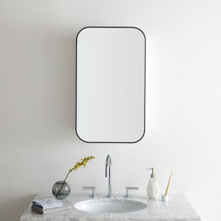 Seamless Bathroom Cabinet West Elm, Bathroom Mirrored Cabinets