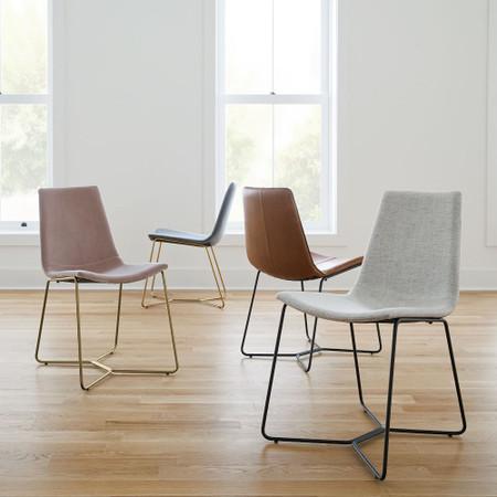 Slope Upholstered Dining Chair West Elm United Kingdom