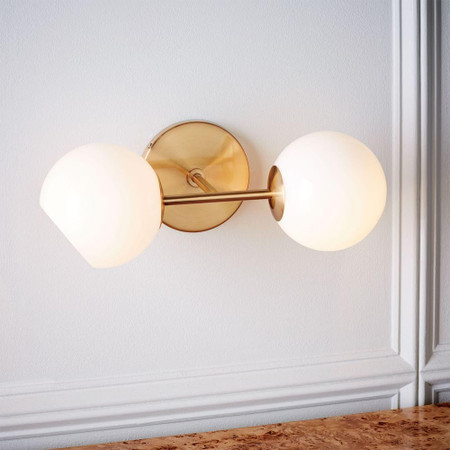 Staggered Glass Sconce - Double