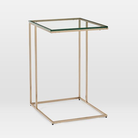 Streamline C-Side Table (41 cm) - Glass