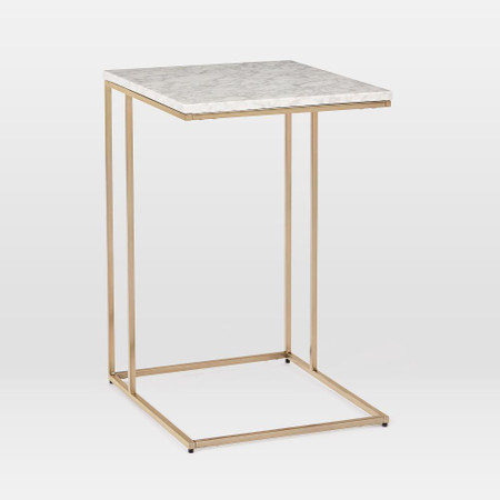 Streamline C-Side Table - Marble