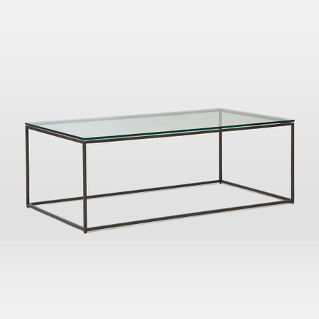 Streamline Coffee Table Glass Metal West Elm United Kingdom