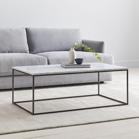 Streamline Coffee Table Marble West Elm United Kingdom