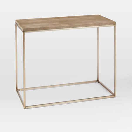 Streamline Side Table - Whitewashed Mango Wood