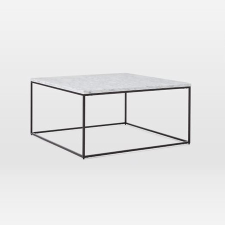 Streamline Square Coffee Table - Marble