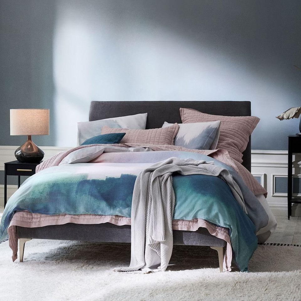 TENCEL™ Abstract Landscape Duvet Cover & Pillowcases