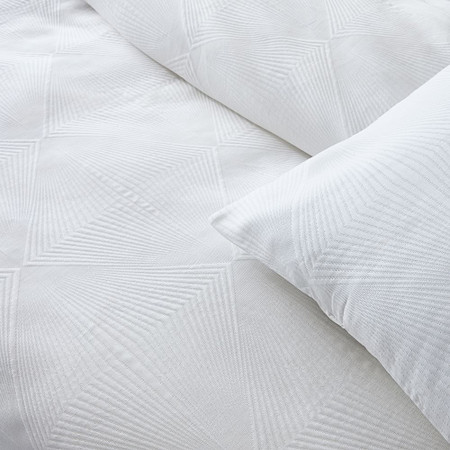 TENCEL™ Cotton Matelasse Diamonds Duvet Cover & Pillowcases