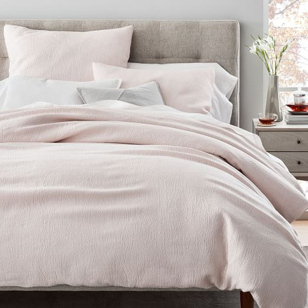 TENCEL™ Cotton Matelasse Duvet Cover & Pillowcases - Pink Blush