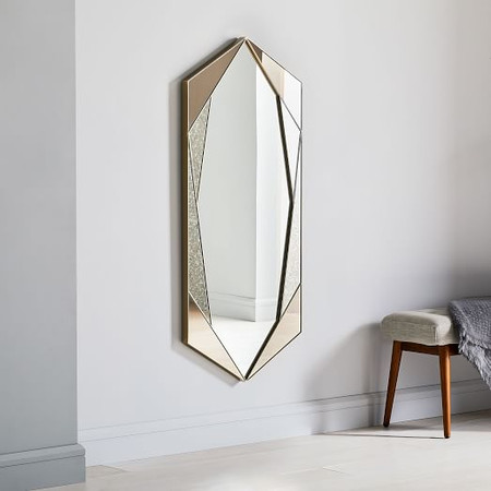 Tinted Hex Wall Mirror