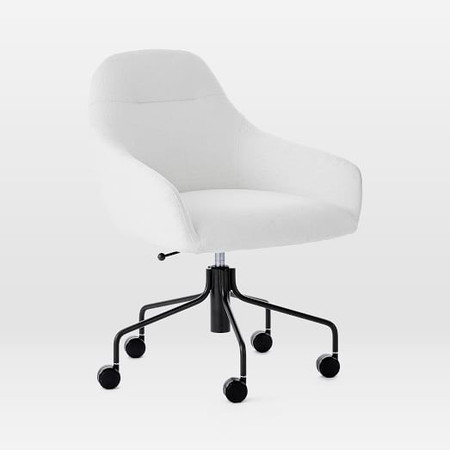 Valentina Office Chair - White (Boucle)