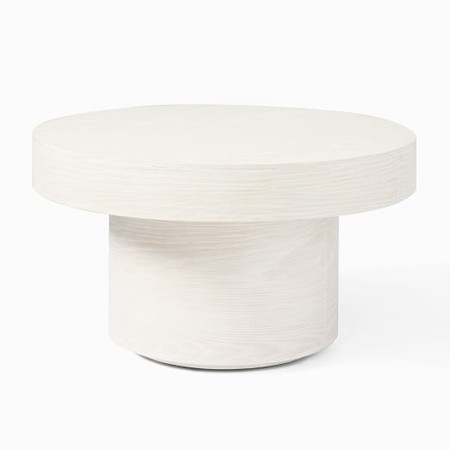 Volume Round Pedestal Coffee Table - Wood