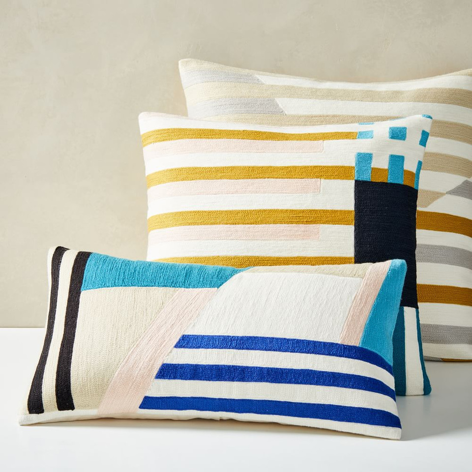 Wallace Sewell Crewel Cushion Covers