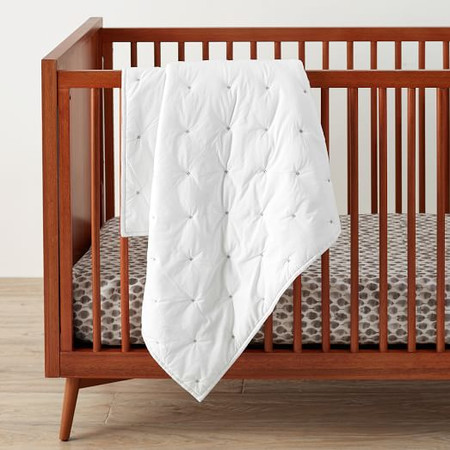Washed Cotton Toddler Quilt - White