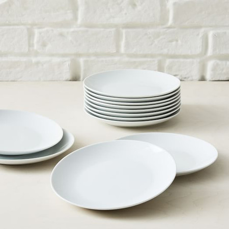 White Porcelain Salad Plates - Catering Set of 12