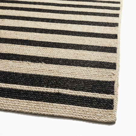 Woven Cable Stripe Performance Rug
